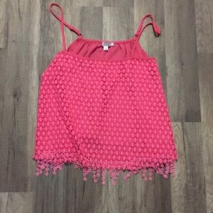 Hot pink crop too with lace!